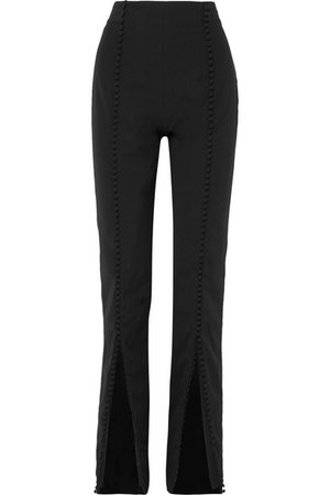 16ARLINGTON | Button-embellished crepe straight-leg pants | NET-A-PORTER.COM