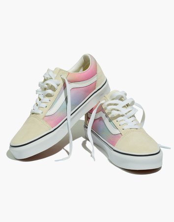 Vans Unisex Old Skool Lace-Up Sneakers in Rainbow Ombre Canvas