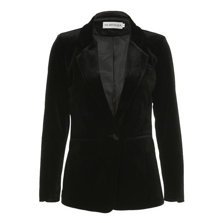 Jacket female2019new gold velvet suit jacket female fashion British wind self cultivation OLprofessional black small suit female-in Blazers from Women's Clothing on Aliexpress.com | Alibaba Group