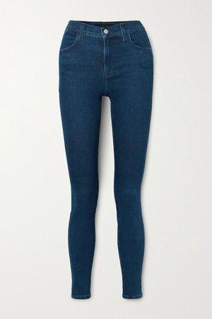 Dark denim Maria high-rise skinny jeans | J Brand | NET-A-PORTER