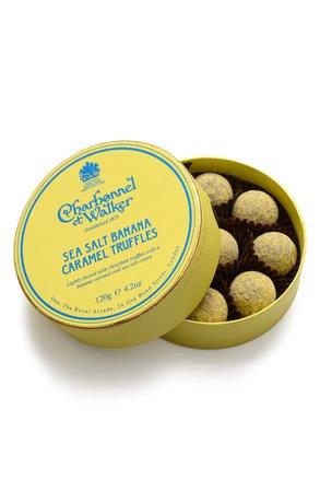 Charbonnel et Walker Sea Salt Banana Caramel Truffles in Gift Box | Nordstrom