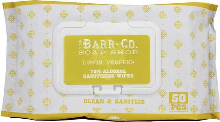 Barr Co Lemon Verbena 75% Alcohol Sanitizing Wipes