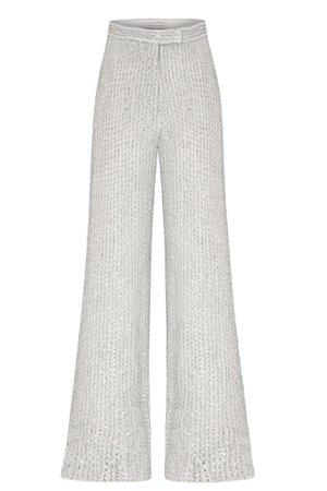 SEQUINED HIGH WAISTED PANTS | Raisa Vanessa