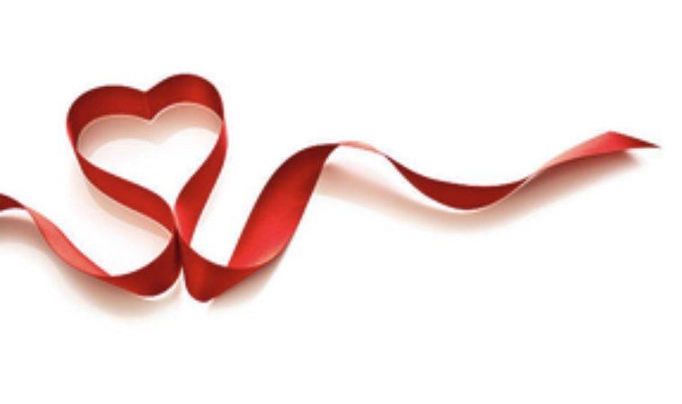 valentines heart ribbon