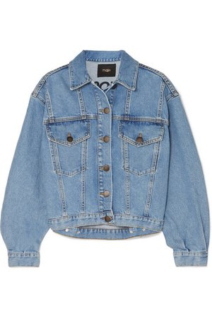 Maje | Denim jacket | NET-A-PORTER.COM