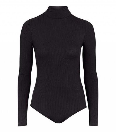Topshop Long Sleeve Funnel Neck Body