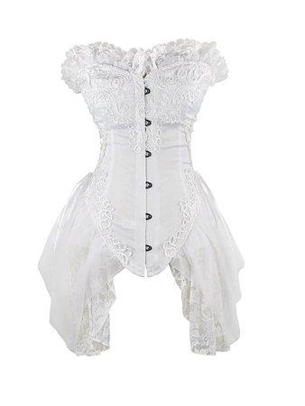 white Victorian gothic dress