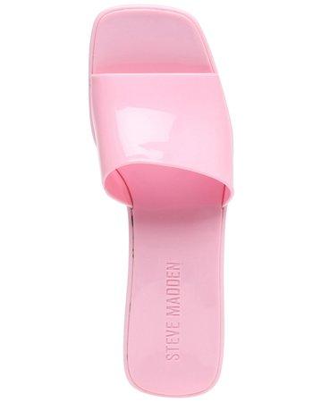 Steve Madden Women's Harlin Jelly Block-Heel Sandals & Reviews - Sandals - Shoes - Macy's