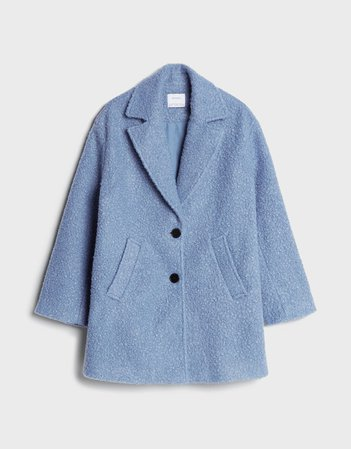 Straight coat - Outerwear - Woman   Bershka