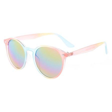 Pastel Rainbow Round Sunglasses | Claire's US