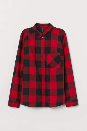 Cotton Shirt - Red