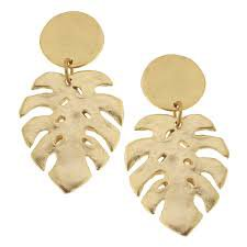 tropical leaf earrings - Google Search
