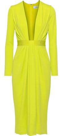 Draped Neon Stretch-jersey Dress
