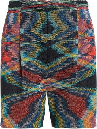 Printed Cotton-Blend Bermuda Shorts