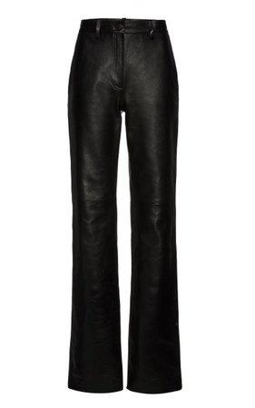 Leather Flared Trousers By Magda Butrym   Moda Operandi