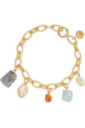 Monica Vinader | + Caroline Issa gold vermeil multi-stone charm bracelet | NET-A-PORTER.COM