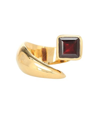 Alan Crocetti - Alien gold-vermeil ring with garnet | Mytheresa