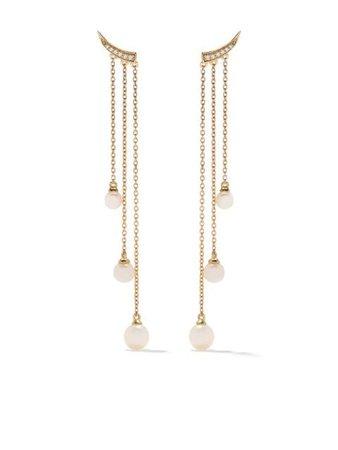 Yoko London Золотые серьги-подвески Trend - Farfetch