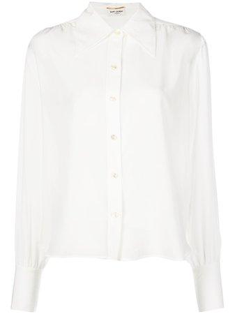 Saint Laurent Pointed Collar Shirt - Farfetch