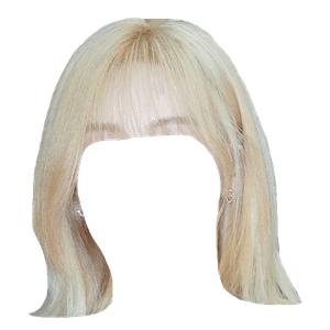 Short Blonde Hair Bangs PNG