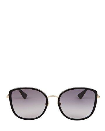 Gucci Oversized Rounded Cat Eye Sunglasses   INTERMIX®
