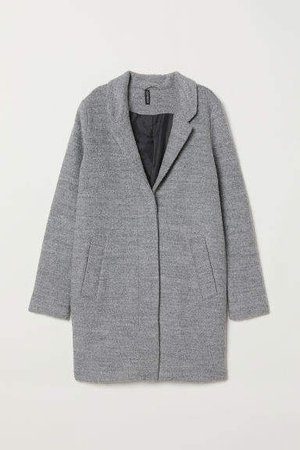 Wool-blend Coat - Gray