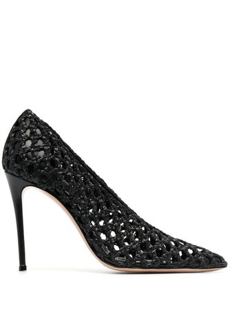 Casadei, Woven leather pumps
