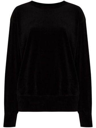 Les Tien crew-neck Velvet Sweatshirt - Farfetch