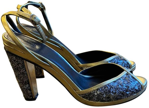 Rodarte X & Other Stories Gold Leather Sandals