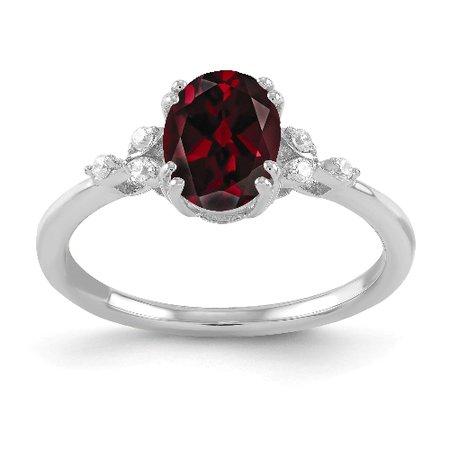Garnet + Silver Ring