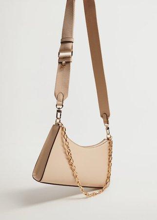 Crossbody bag with chain - Woman   Mango South Korea