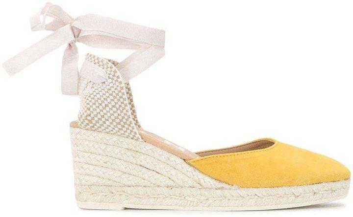 Hamptons espadrille wedge sandals