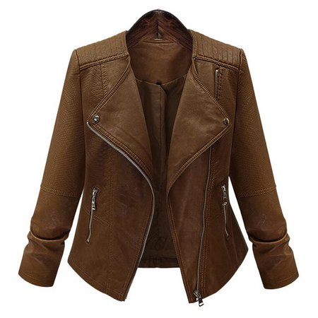 2019 Women Leather Jackets And Coats Dark Brown Rivets Slim Ladies Faux Leather Jacket Bomber Motorcycle Coat Autumn Outwear From Itcdepartmentstores, $38.2 | DHgate.Com
