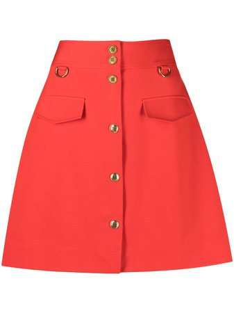 Givenchy Buttoned A-line Mini Skirt - Farfetch