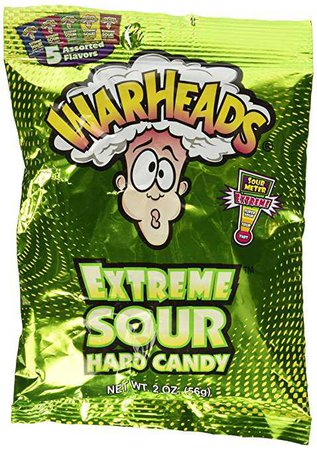 Amazon.com : Warheads Extreme Sour Hard Candy Assorted Flavors 2oz. : Grocery & Gourmet Food