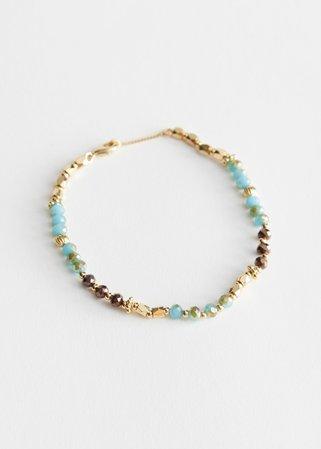 Stone Pendant Charm Bracelet - Gold - Bracelets - & Other Stories