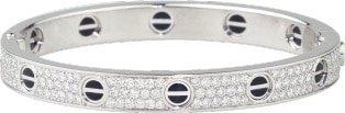 CRN6032417 - LOVE bracelet, diamond-paved, ceramic - White gold, ceramic, diamonds - Cartier