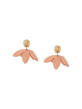 Marni floral drop earrings gold & pink ORMV0240A0P3000 - Farfetch