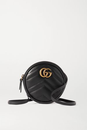 Black GG Marmont quilted leather shoulder bag | Gucci | NET-A-PORTER