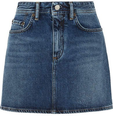 Mini Denim Skirt - Mid denim