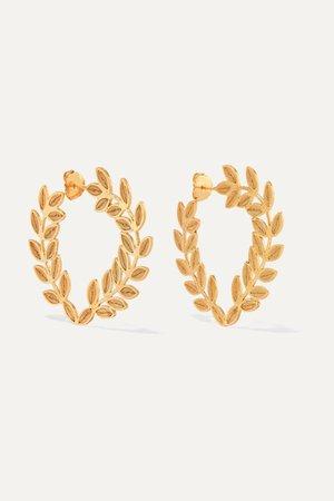 Gold vermeil hoop earrings | Mallarino | NET-A-PORTER