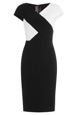 Two-Tone Crepe Dress Gr. UK 12