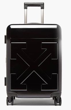 OFF WHITE | arrow embossed cabin suitcase