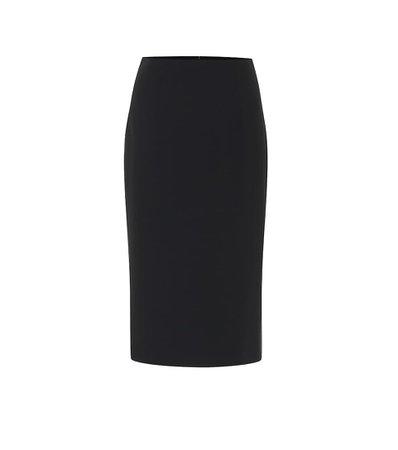 Crêpe Pencil Skirt - Alexander McQueen | mytheresa.com