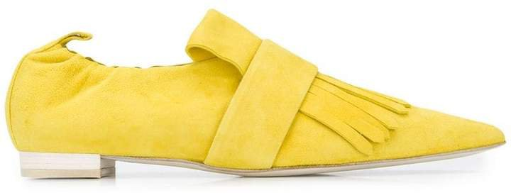 Cyclas fringed pointy loafers