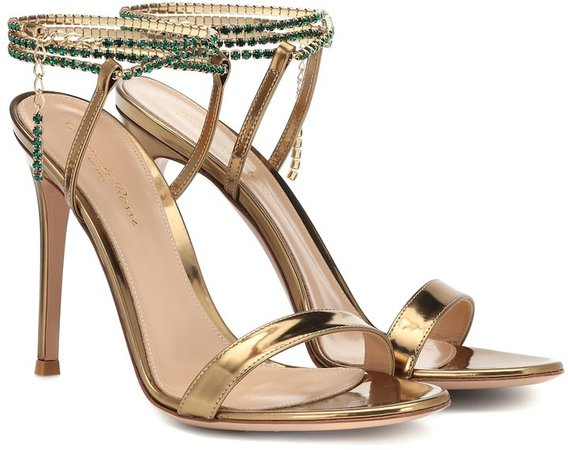 Serena 105 metallic leather sandals