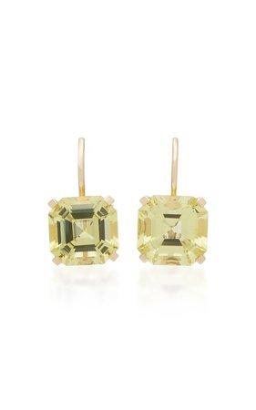 Lemon Quartz 14K Yellow Gold Drop Earrings by Jane Taylor | Moda Operandi