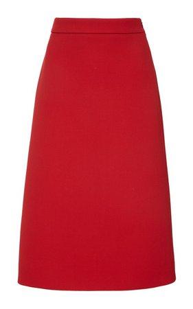 Gabardine Midi Skirt by Prada | Moda Operandi