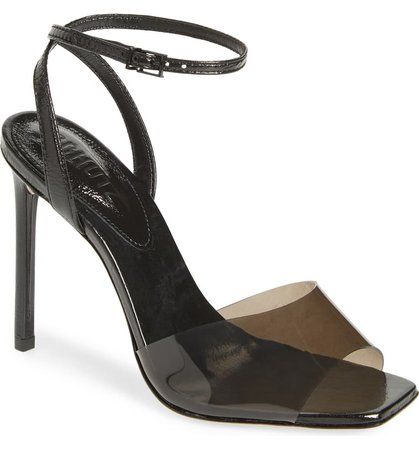 Schutz Jamili Clear Ankle Strap Sandal (Women)   Nordstrom
