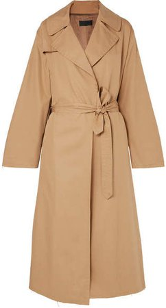 Topher Distressed Cotton-gabardine Trench Coat - Beige